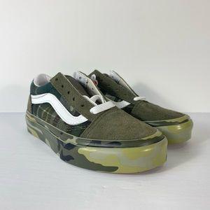 Vans Old Skool Plaid Camo Grape Leaf Sneakers